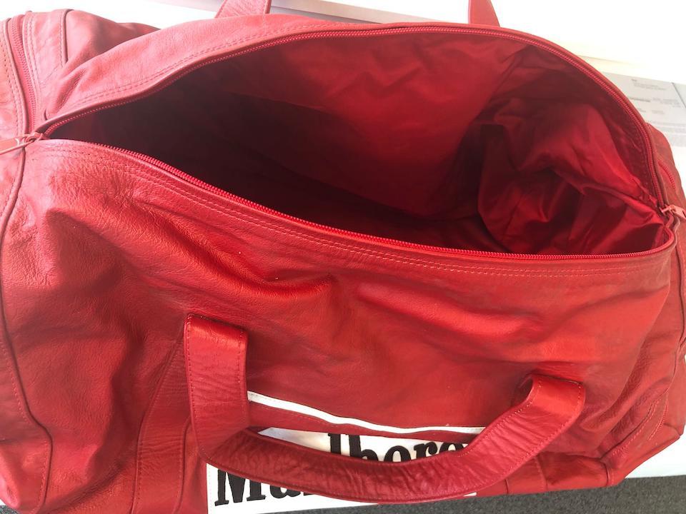 Gerhard Berger Ferrari's F1 bag