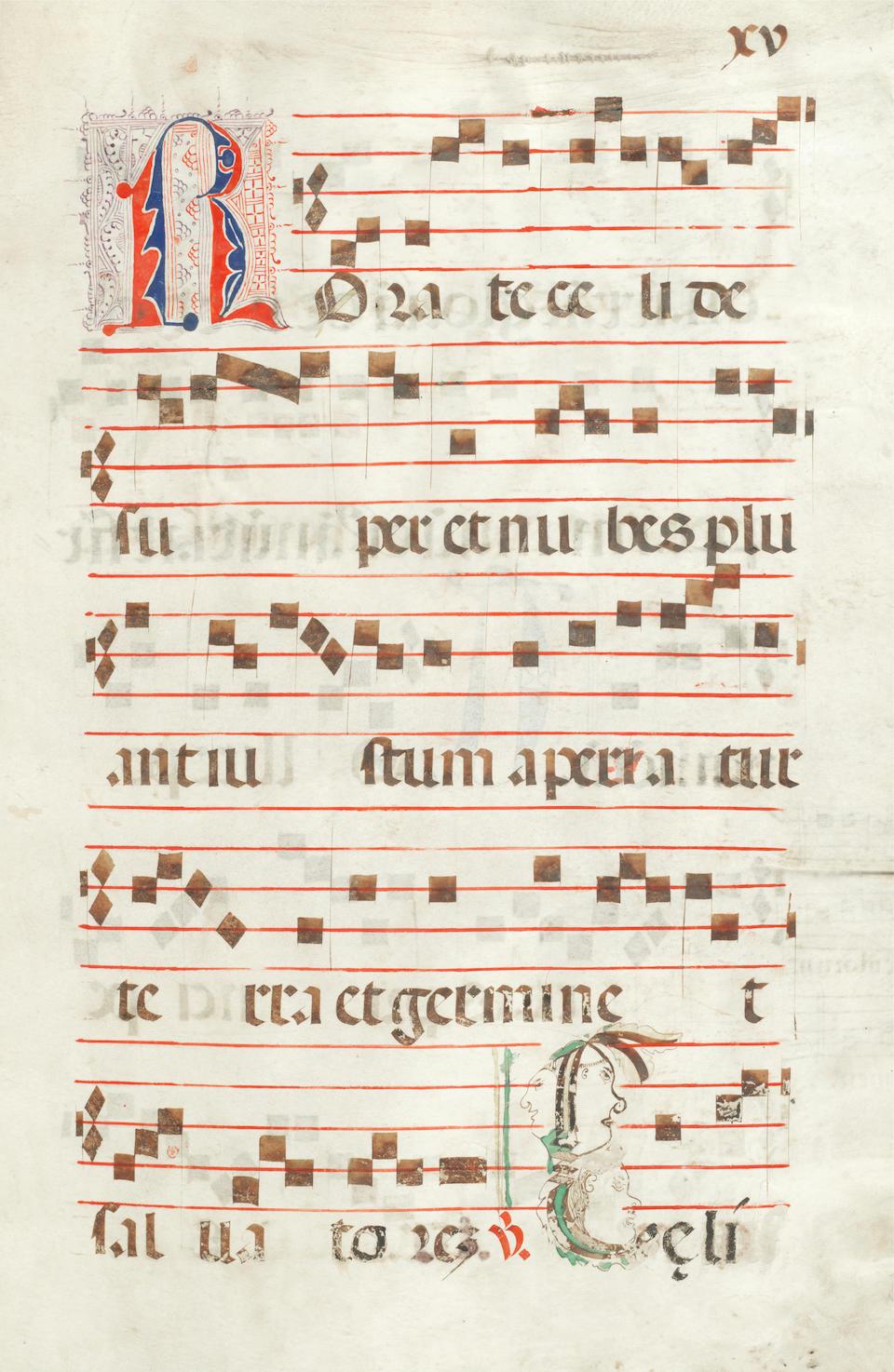 ILLUMINATED MANUSCRIPT Manuscript choirbook, [France, dated 1538]