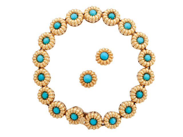 A turquoise demi-parure, Tiffany & Co.
