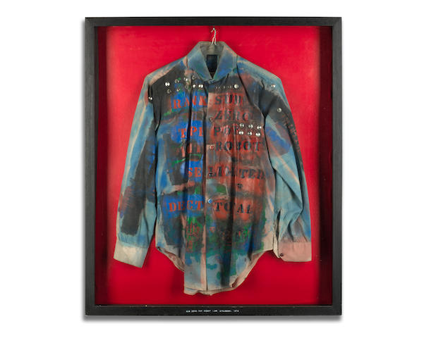 The Clash: Joe Strummer's custom shirt, 1976,