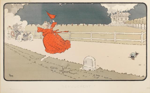 'Devouement' ('Devotion'), a lithographic print after Walter Thor (German, 1870-1929), circa 1905,