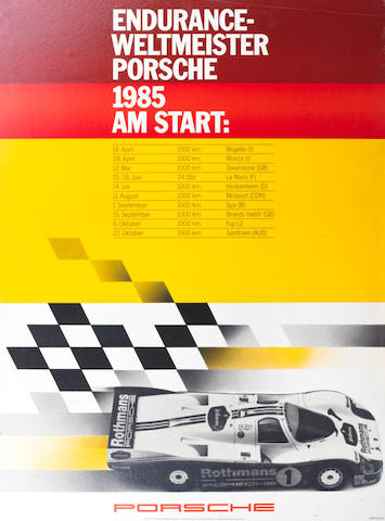 Eight Porsche endurance racing posters,