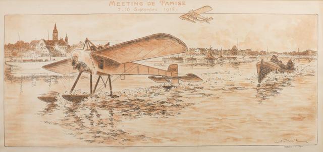 'Meeting de Tamise 7-16 Septembre 1912', a print after Andre Nevil,