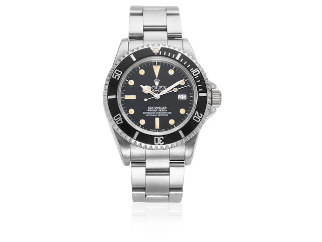 Rolex. A stainless steel automatic calendar bracelet watch  Sea-Dweller, Ref: 16660, Circa 1982