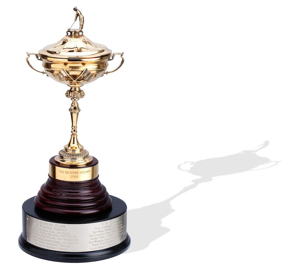 RYDER CUP: SERGIO GARCIA'S REPLICA RYDER CUP TROPHY By Asprey, London 2001.