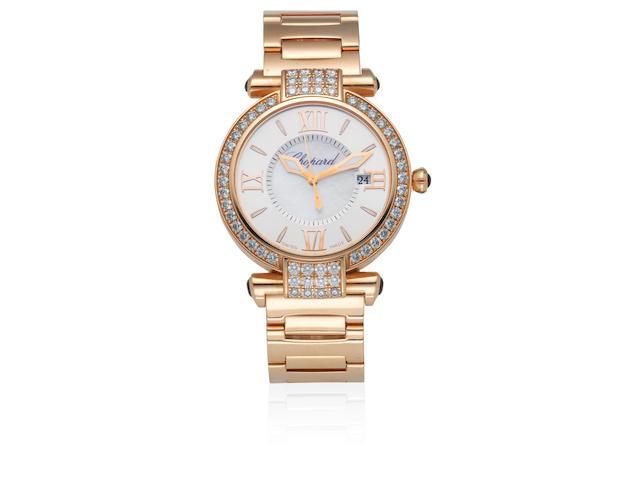 Chopard. A lady's 18K gold and diamond set quartz calendar bracelet watch  Imperiale, Ref: 4221, Circa 2015