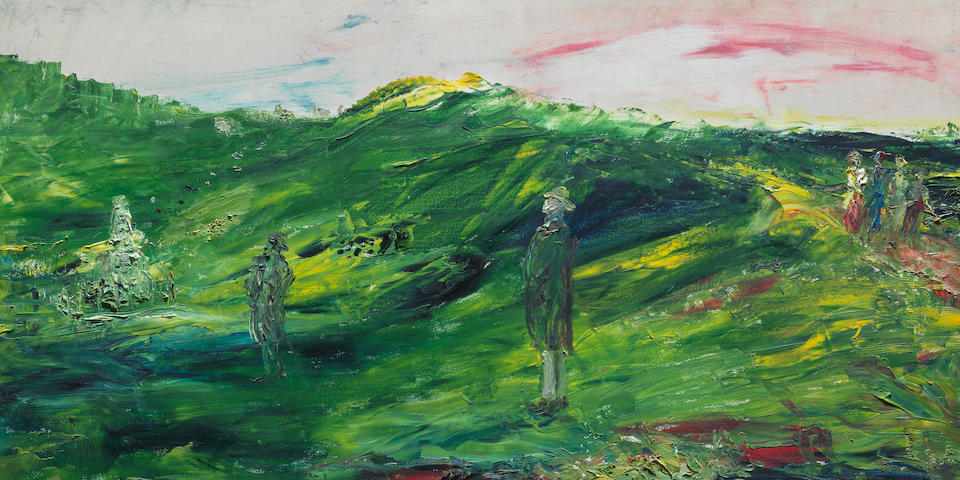 Jack B. Yeats R.H.A. (Irish, 1871-1957) Donnelly's Hollow 61 x 91.5 cm. (24 x 36 in.) (Painted in 1936)