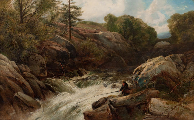 Frederick William Hulme (British, 1816-1884) Salmon Fall