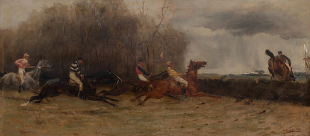 Godfrey Douglas Giles (British, 1857-1923) Point to point