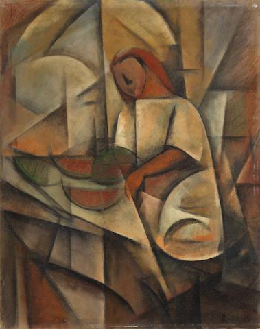 Roberto Marcello Baldessari (1894-1965) Venditrice di angurie (Painted circa 1917)