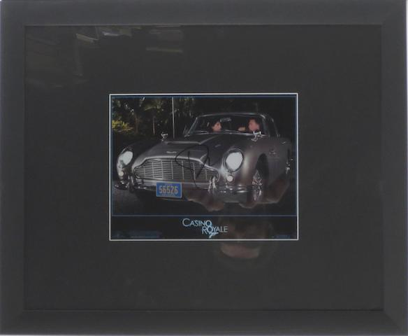 A James Bond 'Casino Royale' publicity still signed by Daniel Craig,
