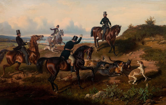 Theodor Franz Zimmermann (Austrian, 1808-1880) The hunt