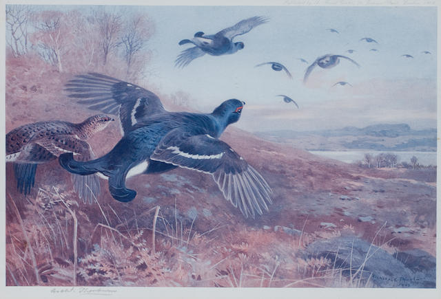 After Archibald Thorburn (British, 1860-1935) A group of four prints each: 22 x 31cm (8 11/16 x 12 3/16in).