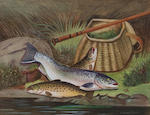 A. Roland Knight (British, active 1879-1921) Pike (together with another by the same hand of the day's catch (2))