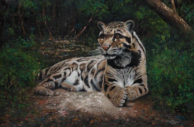 Pip McGarry (British, born 1955) Snow Leopard