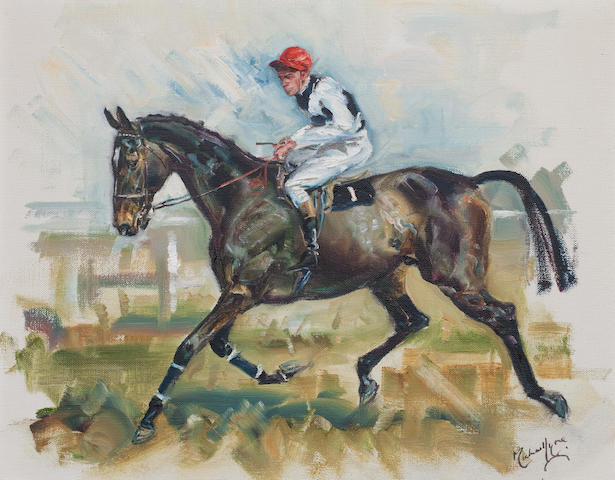 Michael Lynne (1912-1989) 'Arkle and Pat Taafe Up'; 'Mill House and Willie Robinson Up' each: 39 x 49.5cm (15 3/8 x 19 1/2in).  ((2))