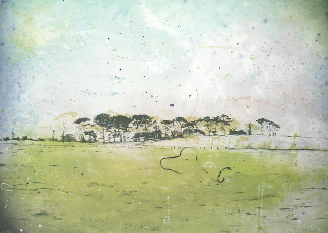 Elizabeth Magill (Irish, born 1959) Roches Point, from the 'Parlous Land' Lithograph printed in colours, 2006, on wove, signed and numbered 18/45 in pencil, published by The Paragon Press, London, the full sheet printed to the edges, 595 x 835mm (23 1/2 x 32 7/8in)(SH)