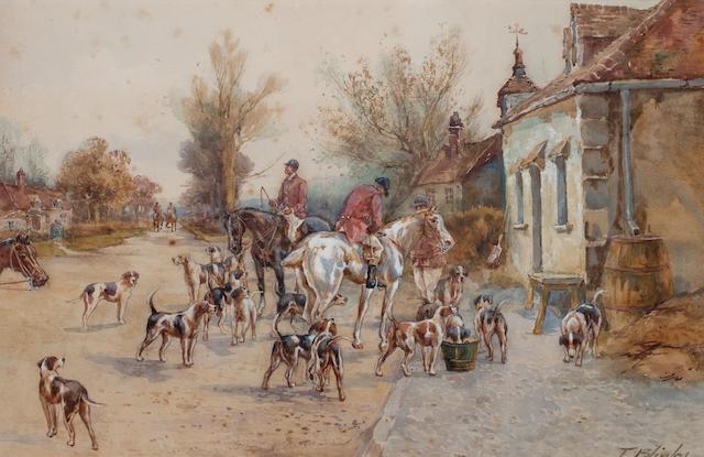 Thomas Blinks (British, 1860-1912) Before the Off