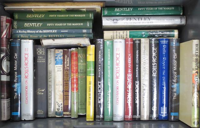 A quantity of books relating to Rolls-Royce and Bentley,   ((Qty))