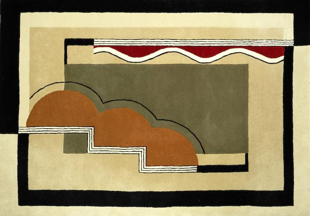 style of marion dorn a Contemporary Rug in the Art Deco Style, twenty-first century