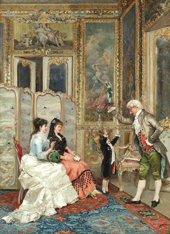 Angelo Martinetti (Italian), 19th Century A tantalising present