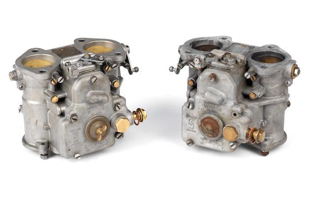 Two rare original Weber 45DCOE4 carburettors for Aston Martin DB4GT,   ((2))