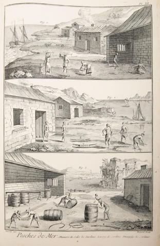 ANGLING [DIDEROT (DENIS)] Pêches, pêches de mer, pêches de rivières, fabrique des filets &c, [Paris, c.1771]