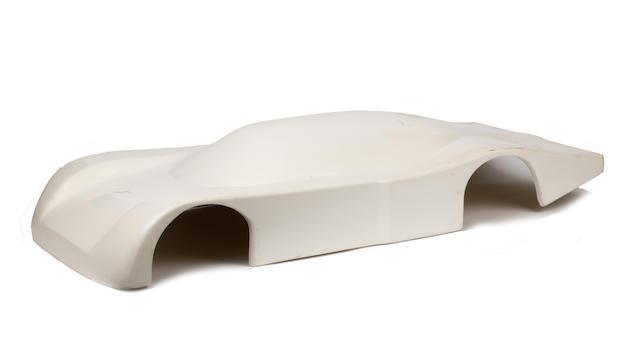 An Aston Martin Nimrod fibreglass wind tunnel body shell model,