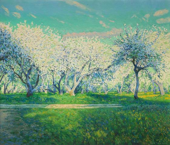 Simon Kozhin (Russian, born 1979) Apple tree blossom in Kolomenskoye