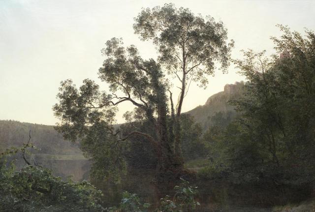 Janus (Andreas Barthotin) LaCour (Danish, 1837-1909) Lake Nemi