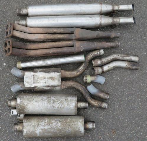 Exhaust parts for Aston Martin V8,