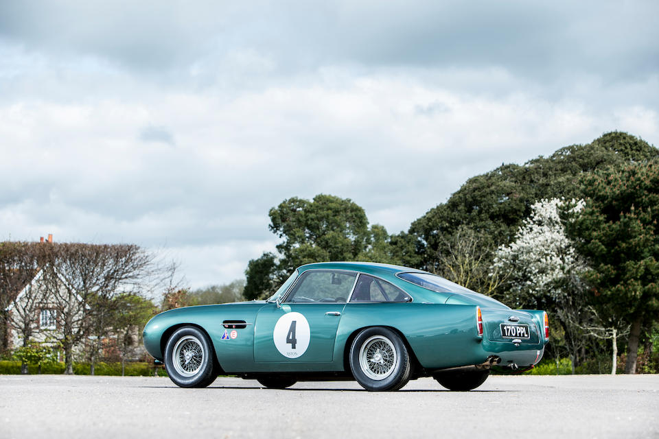 The ex-Peter Thornton, Ian Dalglish actively and successfully campaigned,1960 Aston Martin DB4 GT  Chassis no. 370/0110/GT (original engine offered with motor car); and a race unit installed with no number.