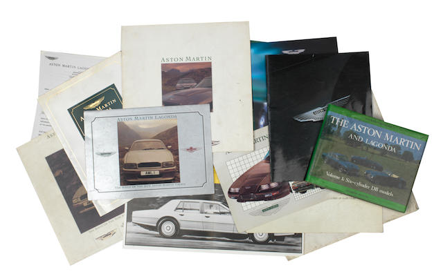 Assorted Aston Martin and Lagonda sales literature and ephemera,   ((Qty))