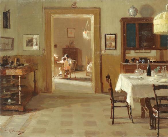 Francesco Galante (Italian, 1884-1972) Lettera di Natale unframed