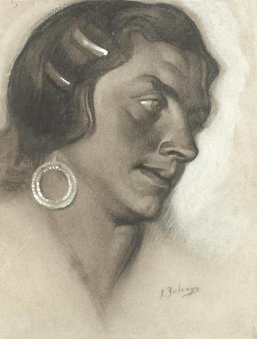 Ignacio Zuloaga (Spanish, 1870-1945) Portrait of a woman