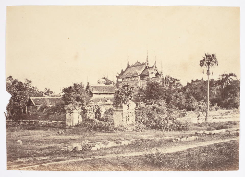 TRIPE (LINNAEUS) 10 photographs of Burma, [1855]; together with a smaller print of the Great Pagoda at Prome perhaps by John McCosh, salt print, mounted, image 195 x 250mm., [c.1852] (11)