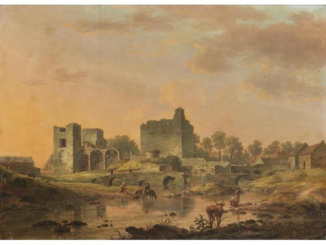 William Ashford P.R.H.A. (Birmingham 1746-1824 Dublin) Views of Maynooth Castle  (2)