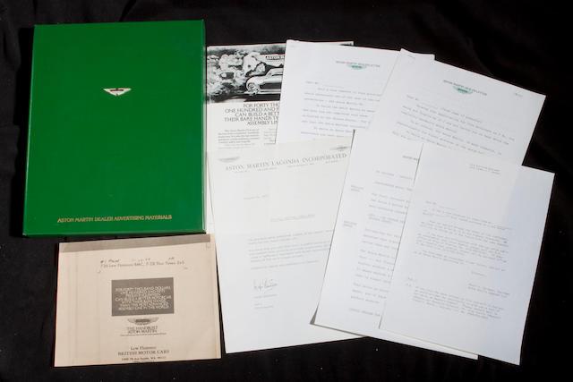Aston Martin Advertising and Press ephemera,  ((Qty))
