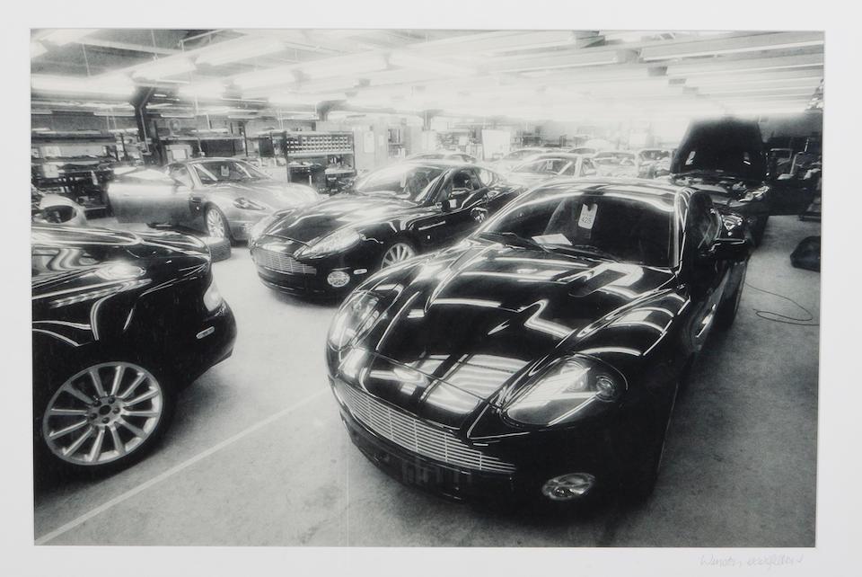 Two Aston Martin photo-prints,   ((2))