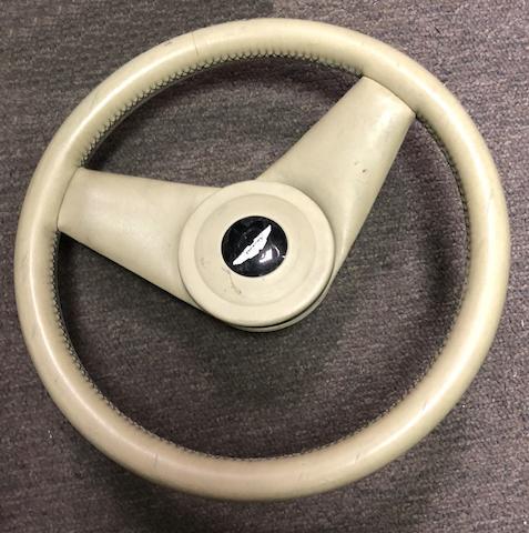 An Aston Martin Virage steering wheel,