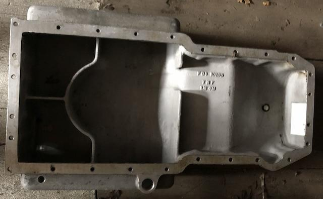 An oil sump casting for Lagonda V8 engine,