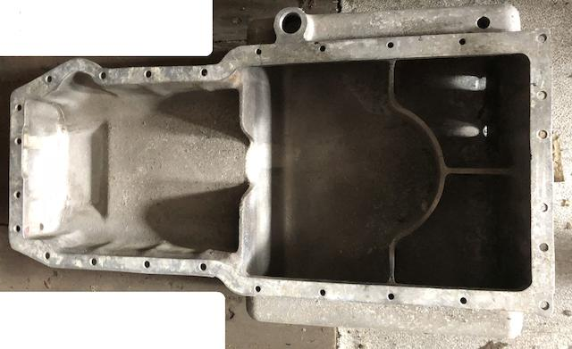 An oil sump casting for Aston Martin V8 engine,