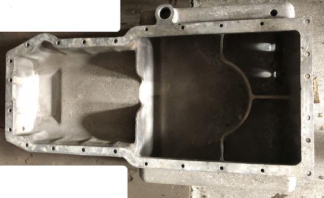 An oil sump casting for Aston Martin V8 engine,