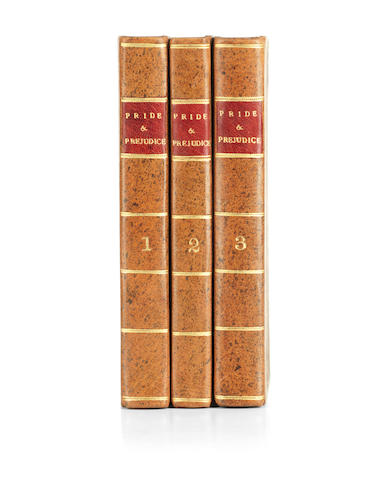 "AUSTEN (JANE) Pride and Prejudice: A Novel... By the Author of ""Sense and Sensibility"", FIRST EDITION, 3 vol., Printed for T. Egerton, 1813"