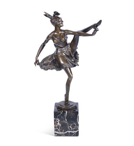 Bruno Zach 'High Kick' an Art Deco Bronze Study, circa 1925