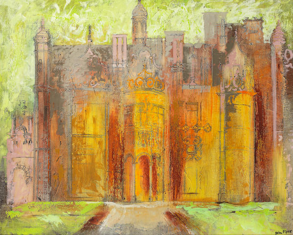 John Piper C.H. (British, 1903-1992) Harlaxton Manor II