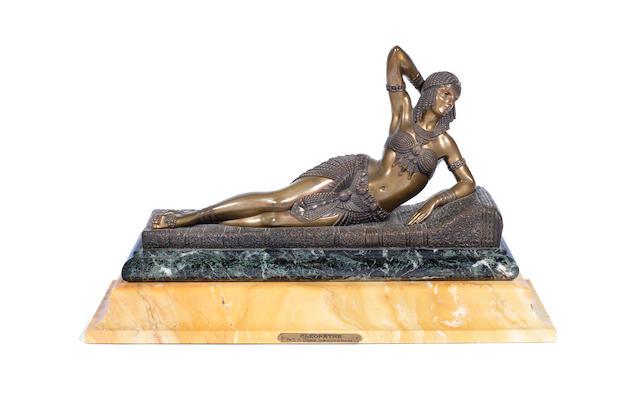 Demetre Chiparus 'Cleopatra' an Art Deco Gilded Bronze Model, circa 1925