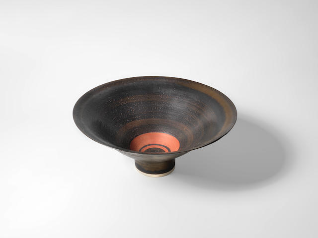 Dame Lucie Rie (British, Austrian 1902-1995) A Footed Bowl, circa 1975