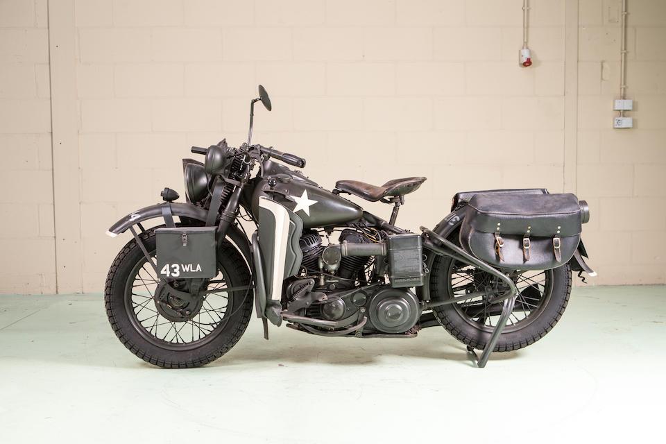 <b>c.1943 Harley-Davidson 750cc WLA </b><br />Frame no. W45263T <br />Engine no. 499