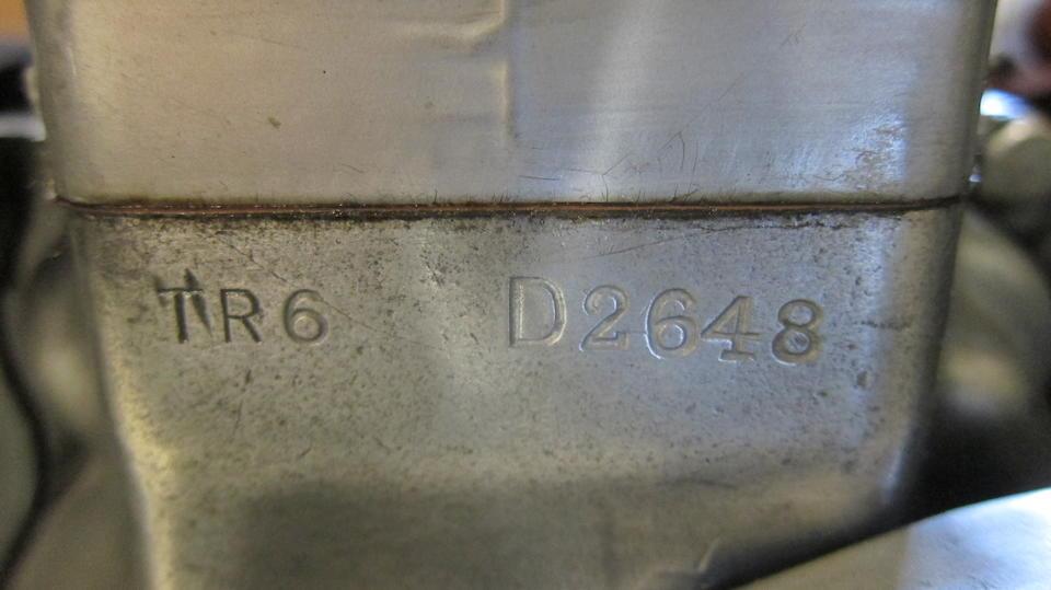 1960 Triumph 649cc TR6 Trophy Frame no. D2648 Engine no. TR6 D2648